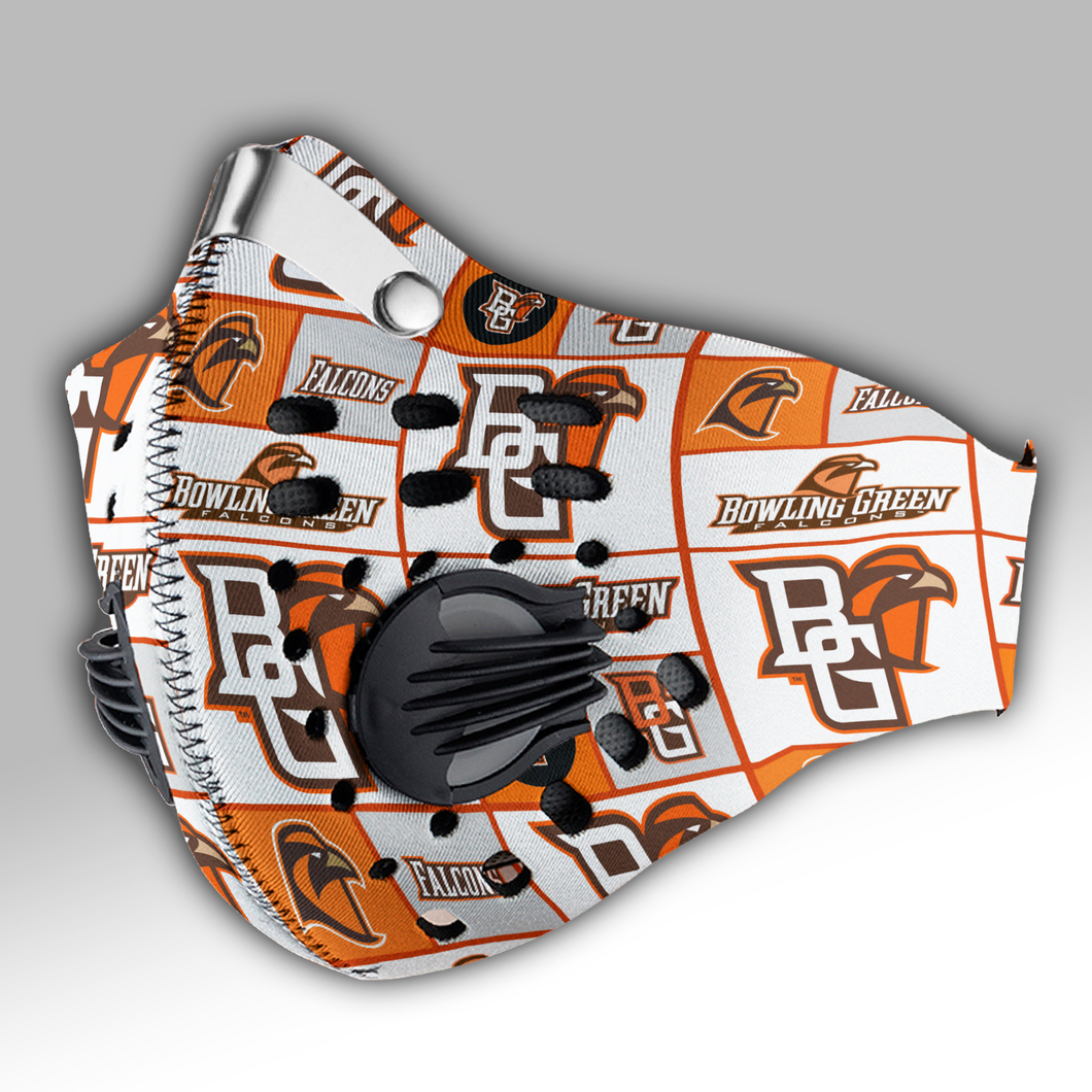 Bowling Green Falcons Carbon PM 2,5 Face Mask