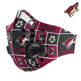 Arizona Coyotes Carbon PM 2,5 Face Mask