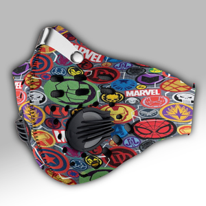 Marvel Comic Carbon PM 2,5 Face Mask