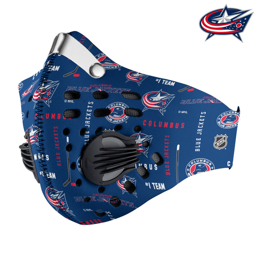 Columbus Blue Jackets Carbon PM 2,5 Face Mask