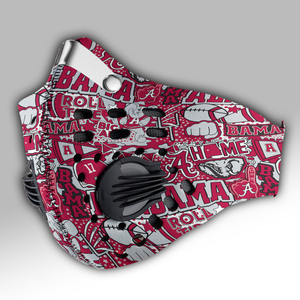 Alabama Crimson Tide Carbon PM 2,5 Face Mask