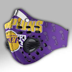 Los Angeles Lakers  2020 NBA Finals Champions Carbon PM 2,5 Face Mask