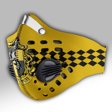 Hufflepuff Hogwarts House Carbon PM 2,5 Face Mask