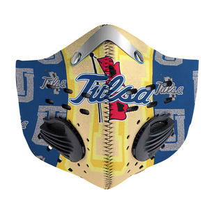 Tulsa Golden Hurricane Carbon PM 2,5 Face Mask