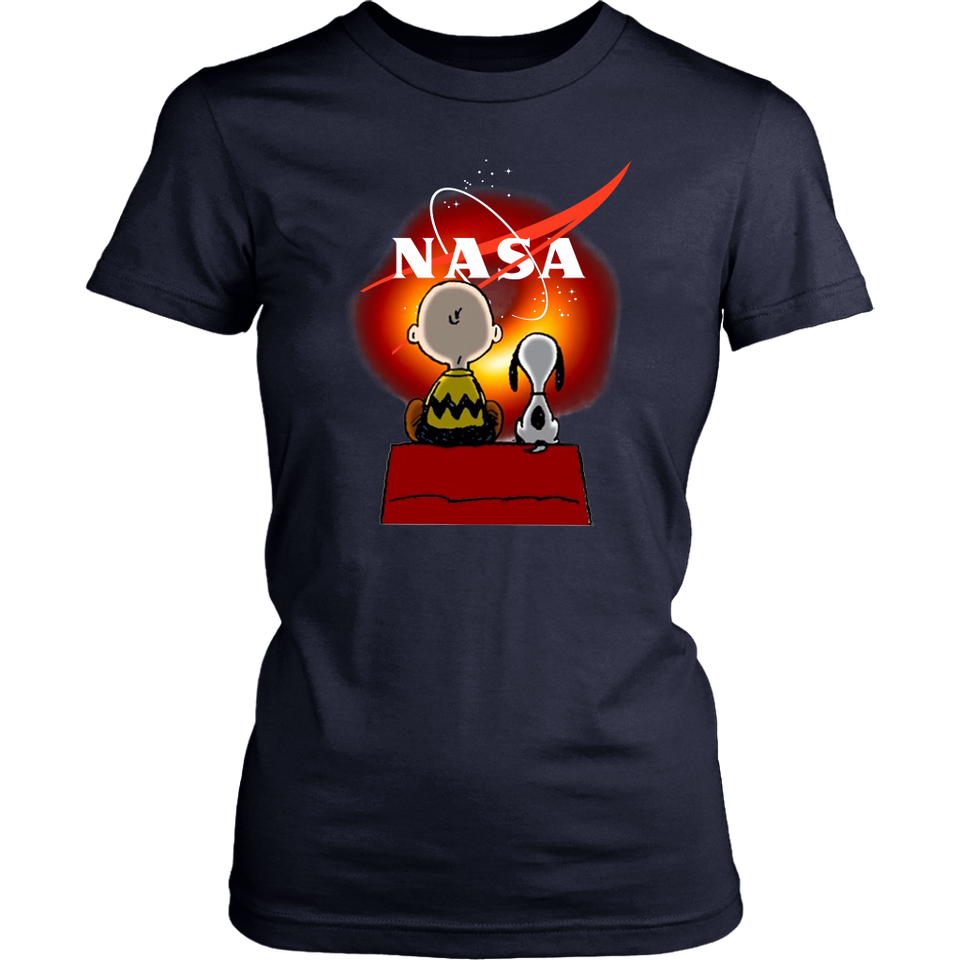 NASA - Snoopy And Charlie Brown With Black Hole Shirt