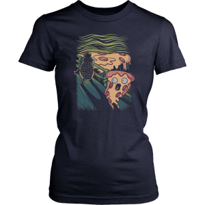 The Scream Pizza Shirt Funny Pizza - pineapple