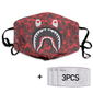 Bape Shark Face Red Camo Full printed Face Mask