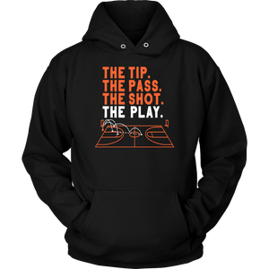 THE TIP - THE PASS - THE SHOT - THE PLAY SHIRT Virginia Cavaliers