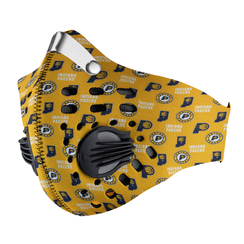 Indiana Pacers Carbon PM 2,5 Face Mask