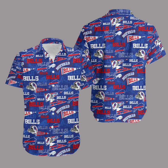 Buffalo Bills Retro AOP Hawaiian Shirt