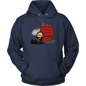 JOHN WICK AND DOG IN THE STYLE OF PEANUTS CHARLIE BROWN AND SNOOPY SHIRT