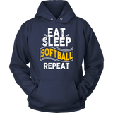 Eat Sleep Softball Repeat Shirt