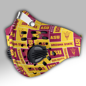 Arizona State University Sun Devils Carbon PM 2,5 Face Mask