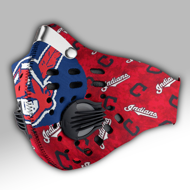 Cleveland Indians Carbon PM 2,5 Face Mask