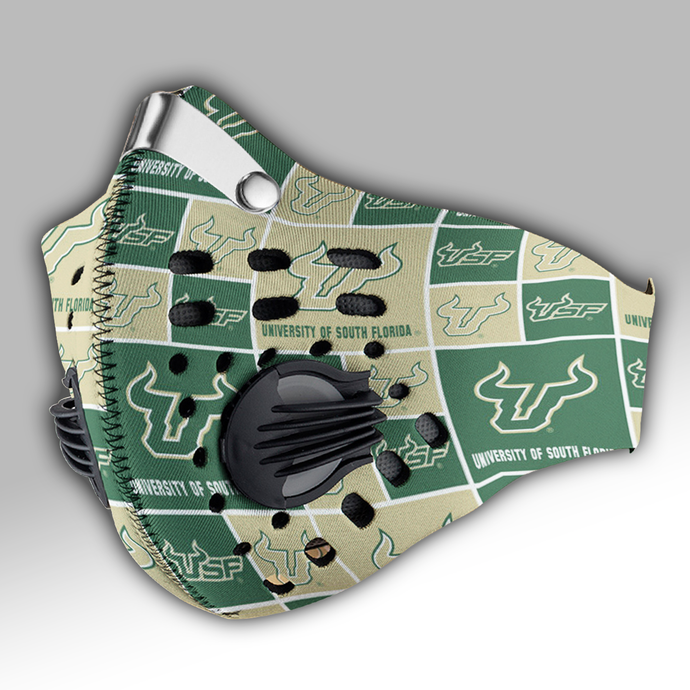 South Florida Bulls Carbon PM 2,5 Face Mask