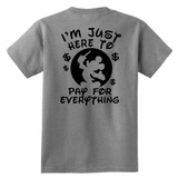 I'm Just Here To Pay For Everything Shirt Funny Disneyland