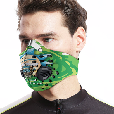 RICK AND MORTY MASK 2020 VIRUS PANDEMIC FLU - Carbon PM 2,5 Face Mask