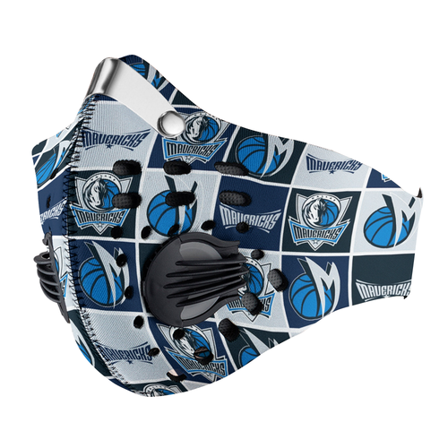 Dallas Mavericks Carbon PM 2,5 Face Mask