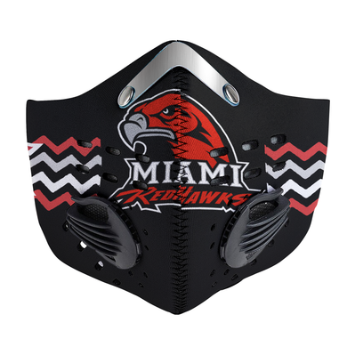 Miami RedHawks Carbon PM 2,5 Face Mask