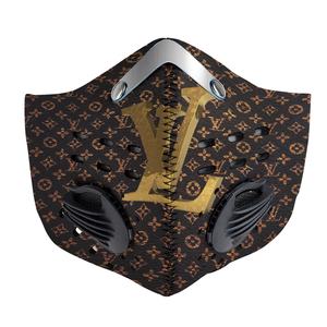 Louis Vuitton Gold In Dark Carbon PM 2,5 Face Mask