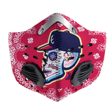 2019 Los Bravos Sugar Skull Carbon PM 2,5 Face Mask shirt, braves, skull, masks