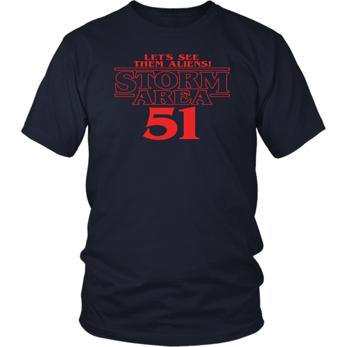 Let's see them aliens Storm area 51 Stranger Things shirt