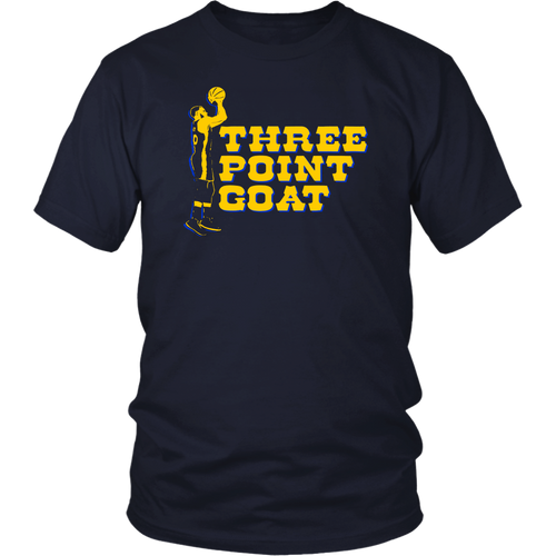 THREE POINT GOAT - Steph Curry Flurry Shirt Golden State Warriors