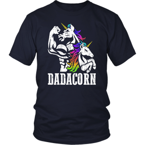 Dadacorn T Shirt Muscle Unicorn Dad Baby Fathers Day Gift