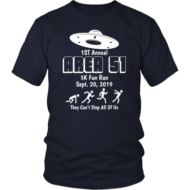 Storm Area 51 Shirt Alien UFO 5K Fun Run T-Shirt They Can't Stop Us