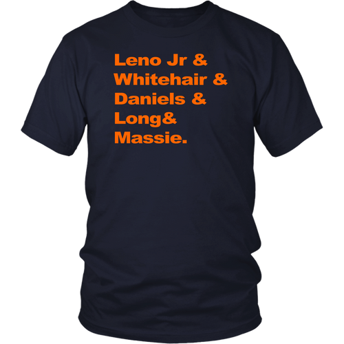 Leno Jr and Whitehair and Daniels and Long and Massie shirt
