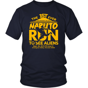 Naruto Run For Aliens Shirt