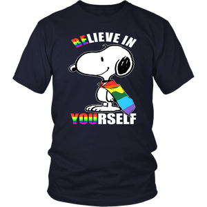 LGBT Snoopy Believe In Yourself Shirt