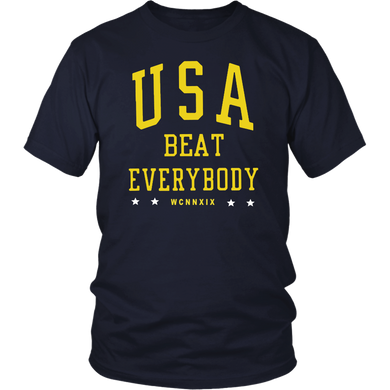 USWNT USA BEAT EVERYBODY SHIRT
