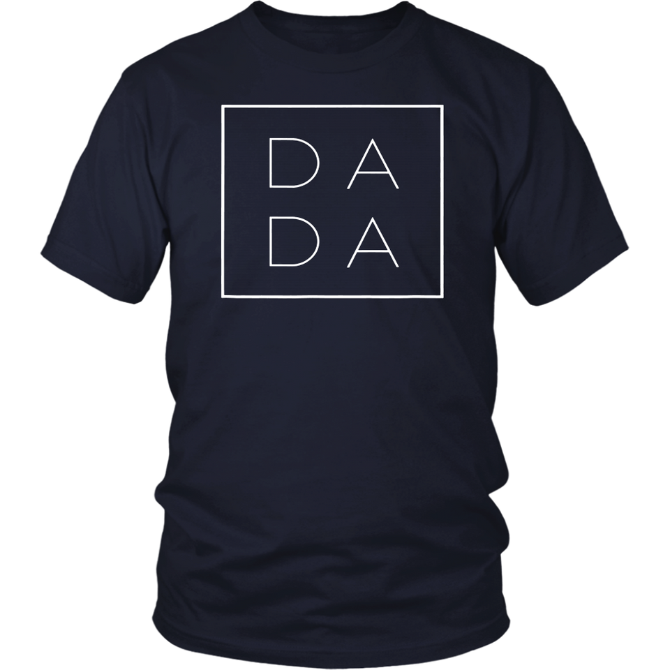Dada Square T-shirt Father's Day Gift For Dad