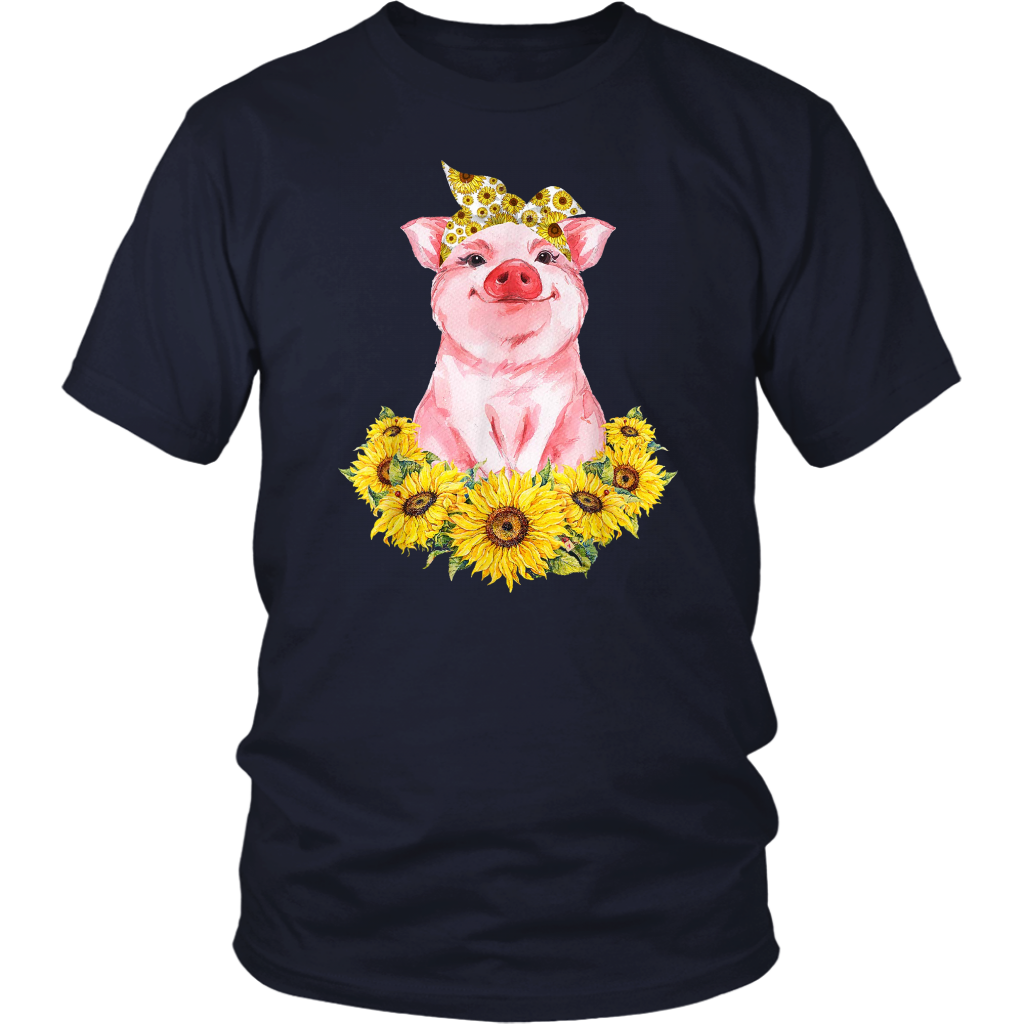 Just A Girl Who Love Pig And Sunflower Shirt