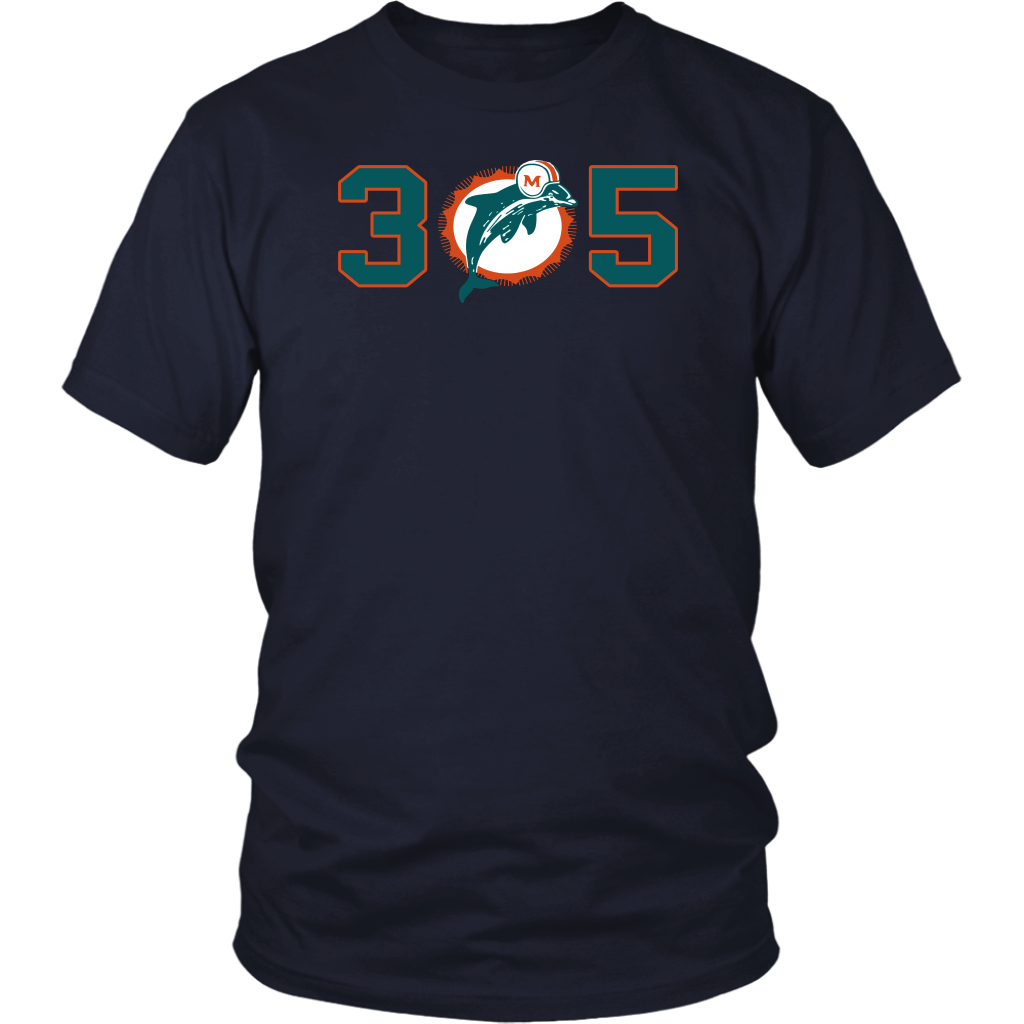 305 T-Shirt Miami Dolphins