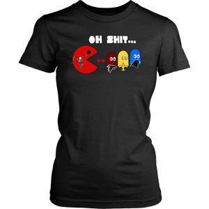Pacman  - Oh Shit Shirt Jameis Winston - Funny Tampa Bay Buccaneers Pacman Eating Carolina Panthers - New Orleans Saints - Atlanta Falcons Ghosts