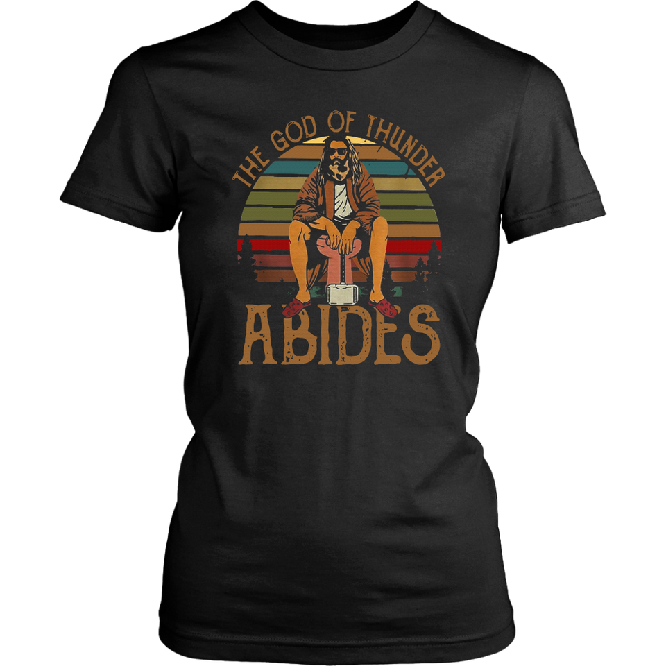 Fat Thor The God Of Thunder Abides T-shirt