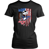 Jack Skellington American flag independence day t-shirt