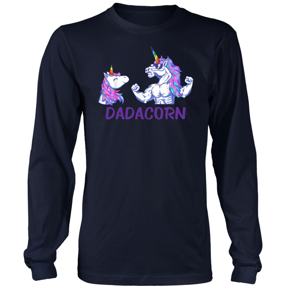 Dadacorn Unicorn Dad And Baby Fathers Day T-Shirt