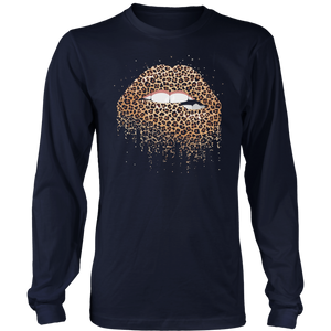 SEXY LIPS WITH LEOPARD SKINS SHIRT