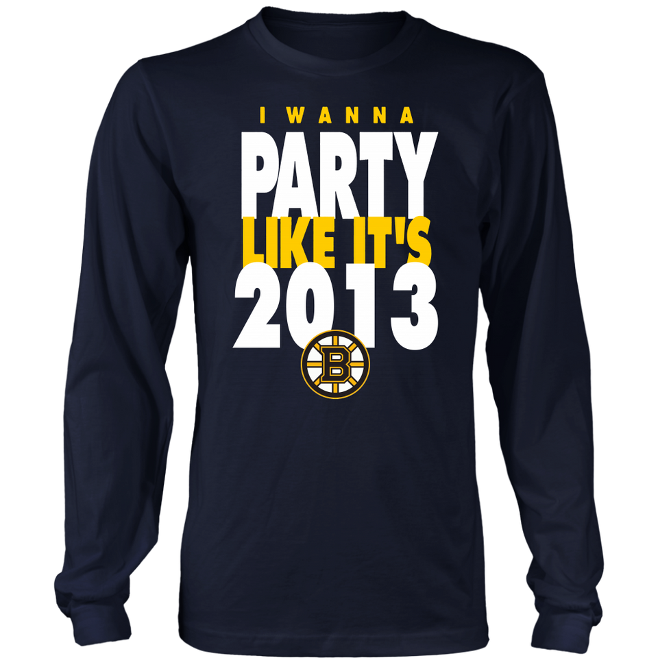 I WANNA PARTY LIKE IT'S 2019 SHIRT Boston Bruins 2019 Stanley Cup Final T-Shirt