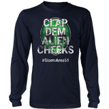 Storm Area 51 Clap Dem Alien Cheeks #StormArea51 distressed T-Shirt
