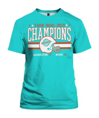 Dolphins Tank Bowl Champions T-shirt Miami Dolphins