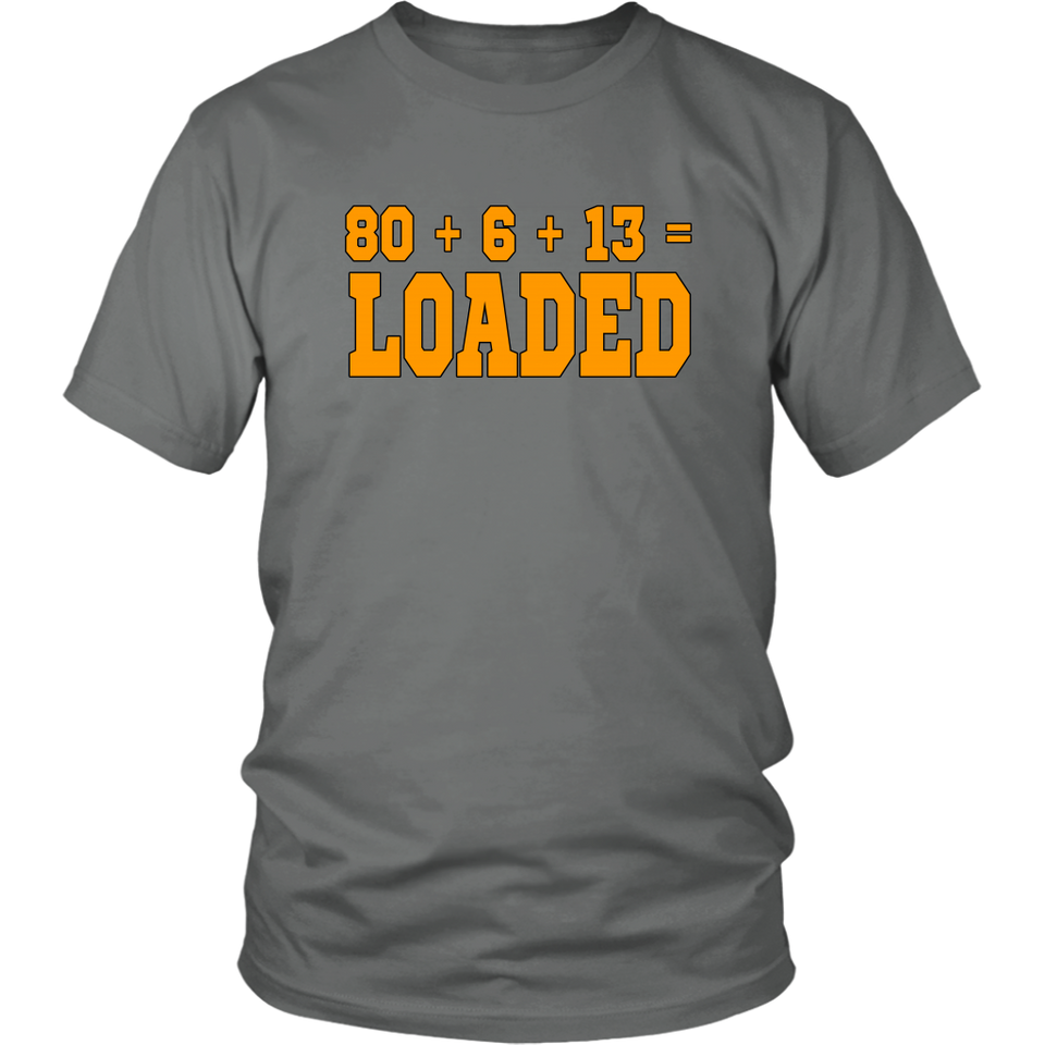80 + 6 +13 = LOADED SHIRT Cleveland Browns