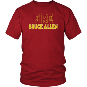 FIRE BRUCE ALLEN SHIRT Washington Redskins