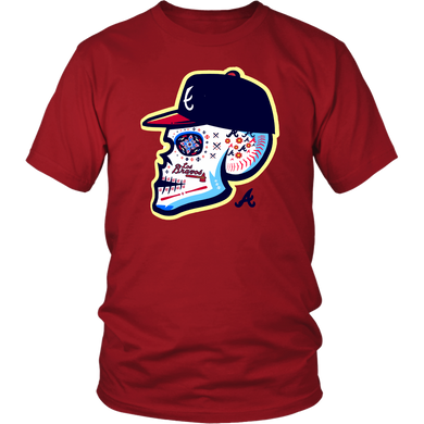 2019 Los Bravos Sugar Skull Shirt Atlanta Braves