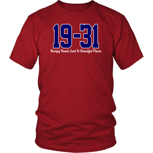 19 - 31 Shirt Dave Martinez - Bumpy Roads Lead To Beautiful Places - Washington Nationals