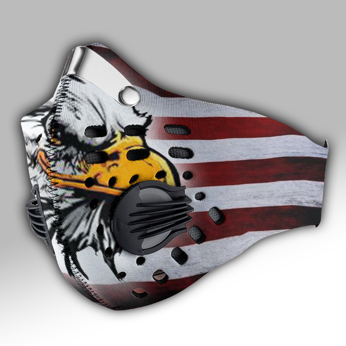 Patriotic - American Eagle - USA Flag Carbon PM 2,5 Face Mask