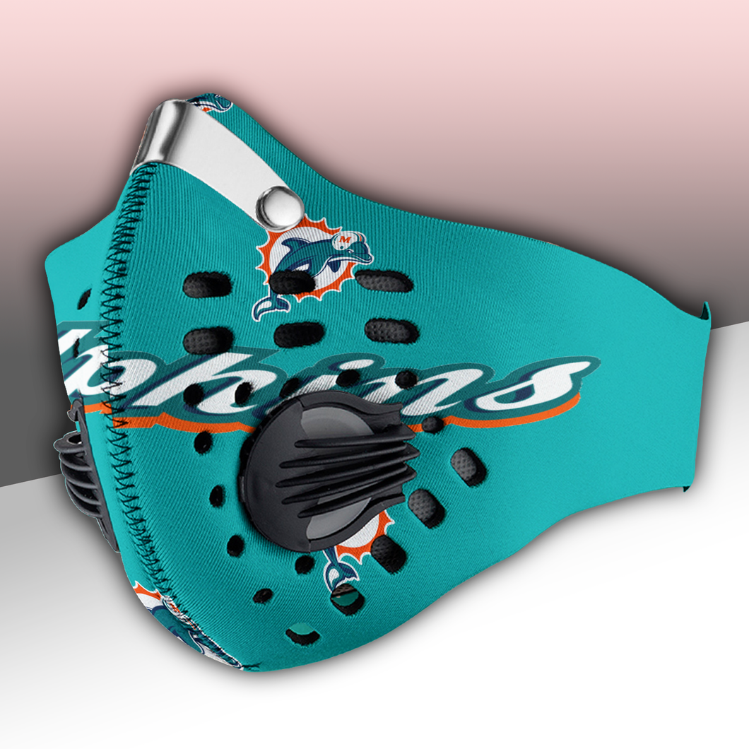 Miami Dolphins Carbon PM 2,5 Face Mask